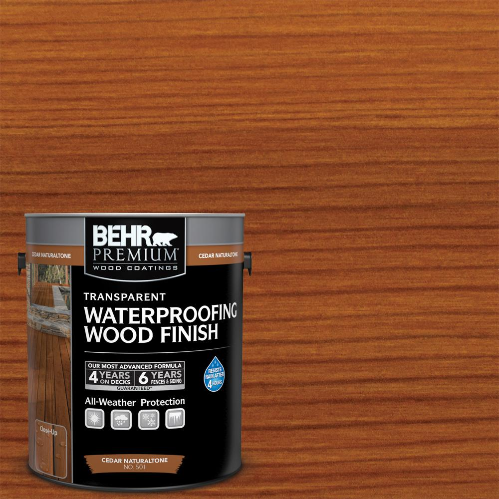 Home Depot Cedar Deck Boards Behr Premium 1 Gal Cedar Naturaltone Transparent Waterproofing Exterior Wood Finish
