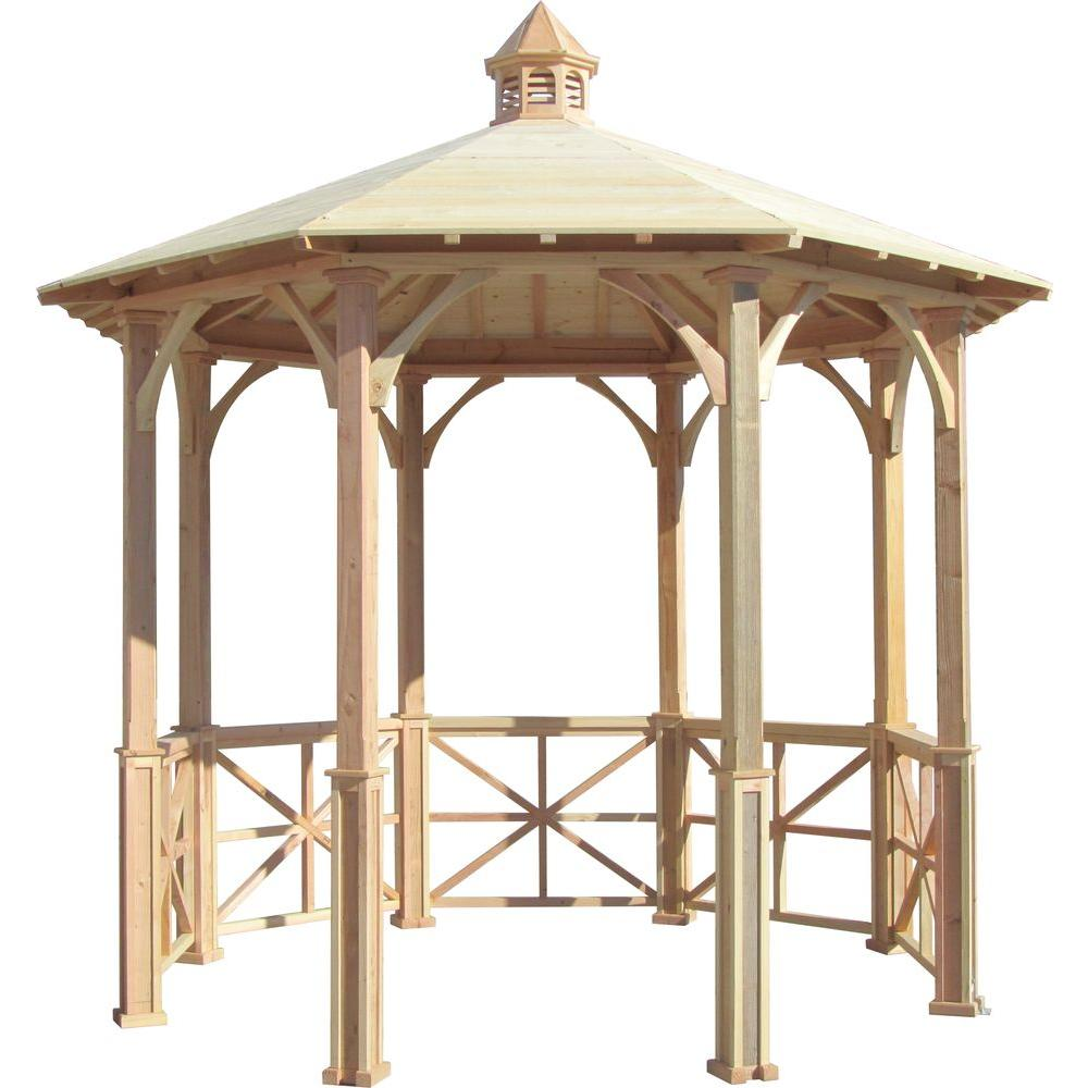 Metal Garden Gazebo Samsgazebos 10 Ft Octagon English Cottage Garden Gazebo With Cupola Adjustable For Uneven Patio