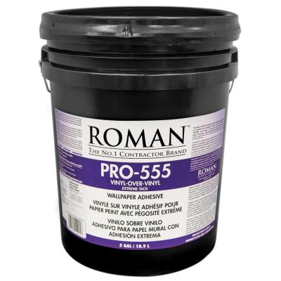 ROMAN PRO-555 5 gal. Extreme Tack Wallpaper Adhesive-011905 - The Home Depot