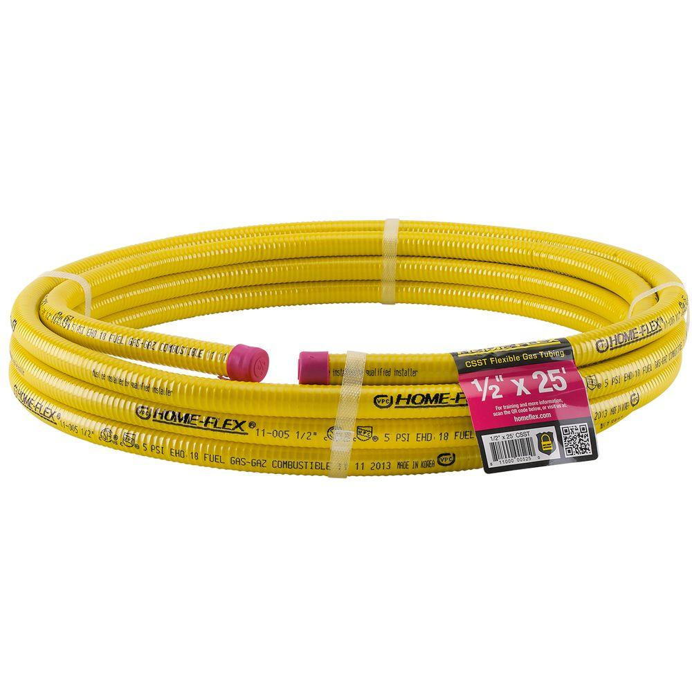 Running Gas Line To Fireplace Home Flex 1 2 In X 25 Ft Csst Corrugated Stainless Steel Tubing
