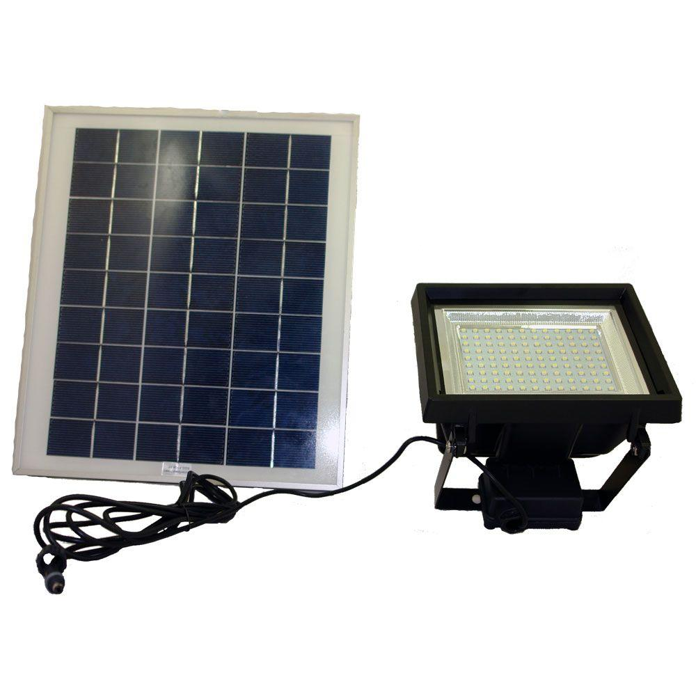 Led Solar Solar Goes Green Solar Super Bright Black 108 Led Outdoor Flood Light With Timer
