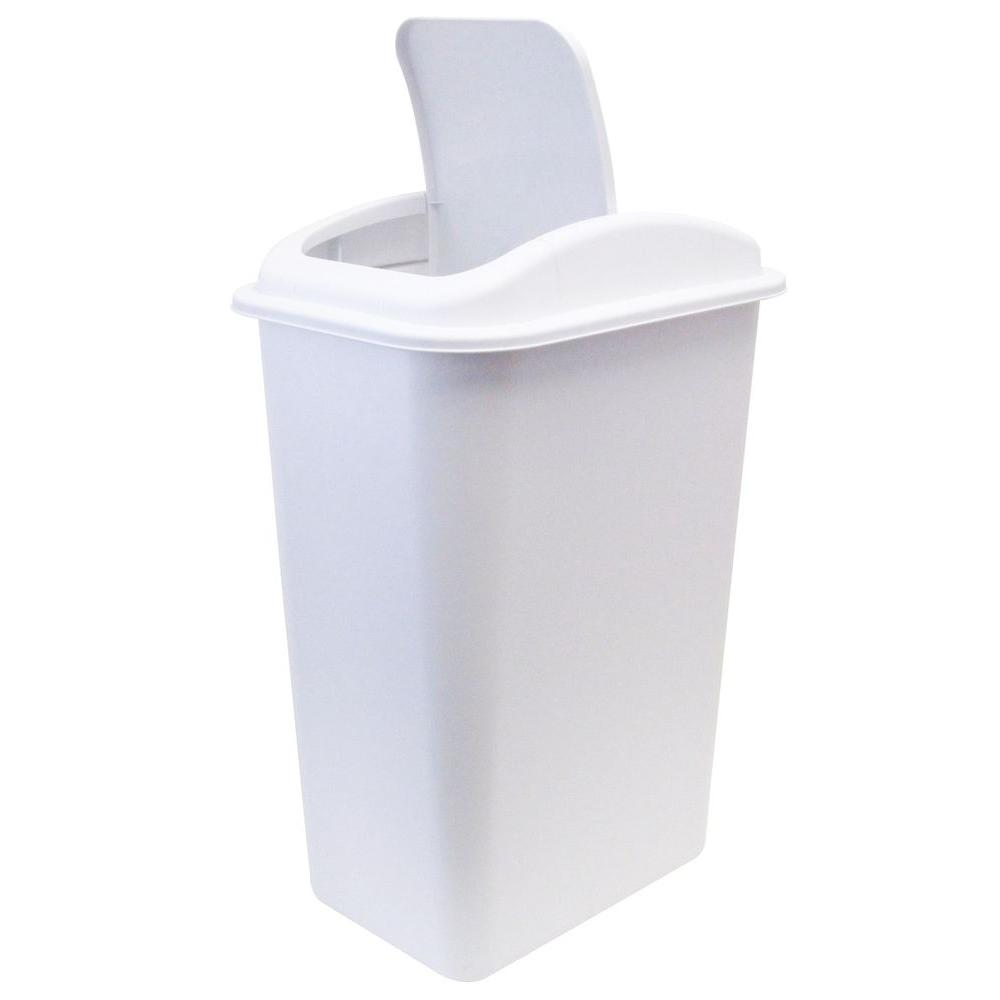 Laundry Trash Cans Upc 051596394103 United Solutions Trash Receptacles 41 Qt White