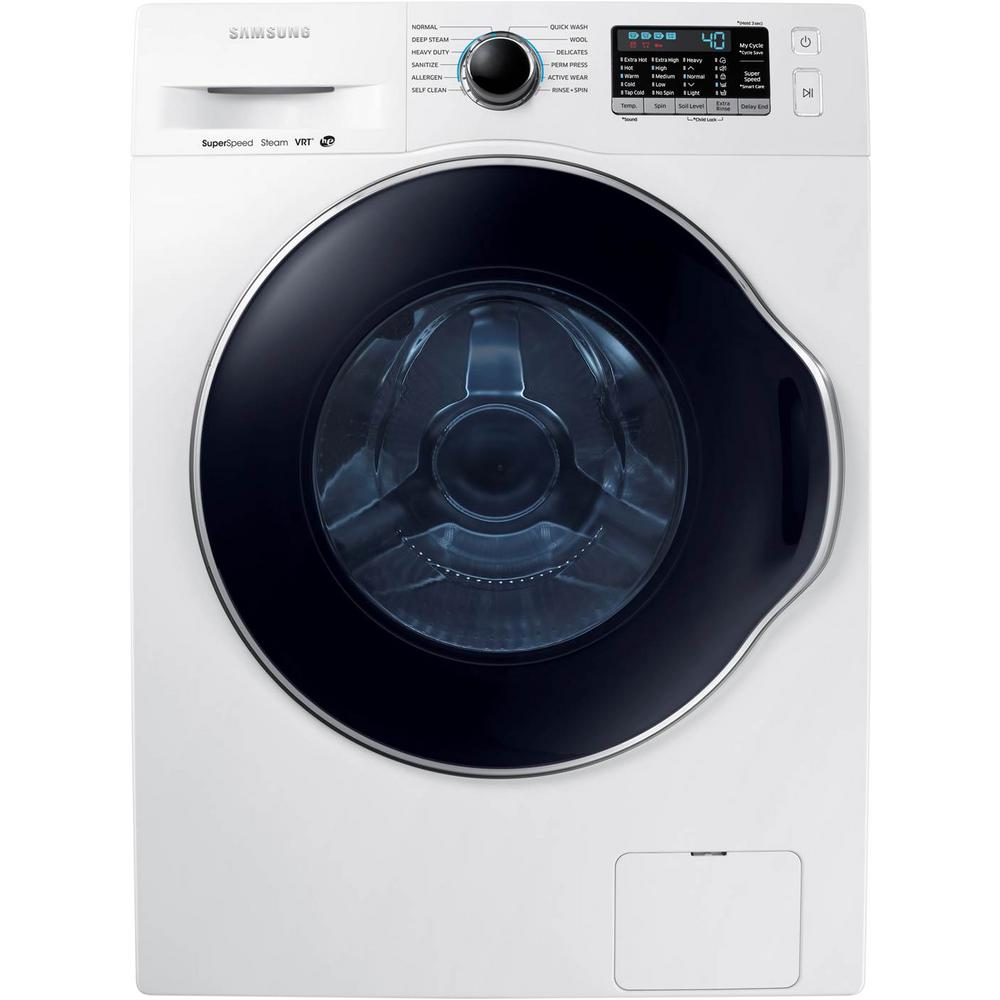 Samsung Front Load Washer Samsung 24 In 2 2 Doe Cu Ft High Efficiency Front Load Washer With Steam In White Energy Star