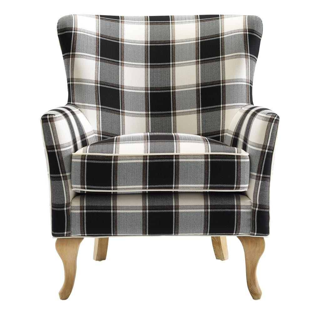 Black And White Accent Chair Dorel Emerie Black And White Checkered Pattern Accent Chair