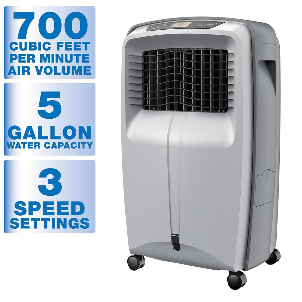 Portable Ac Home Depot Arctic Cove 700 Cfm 3 Speed Portable Evaporative Cooler For 500 Sq Ft