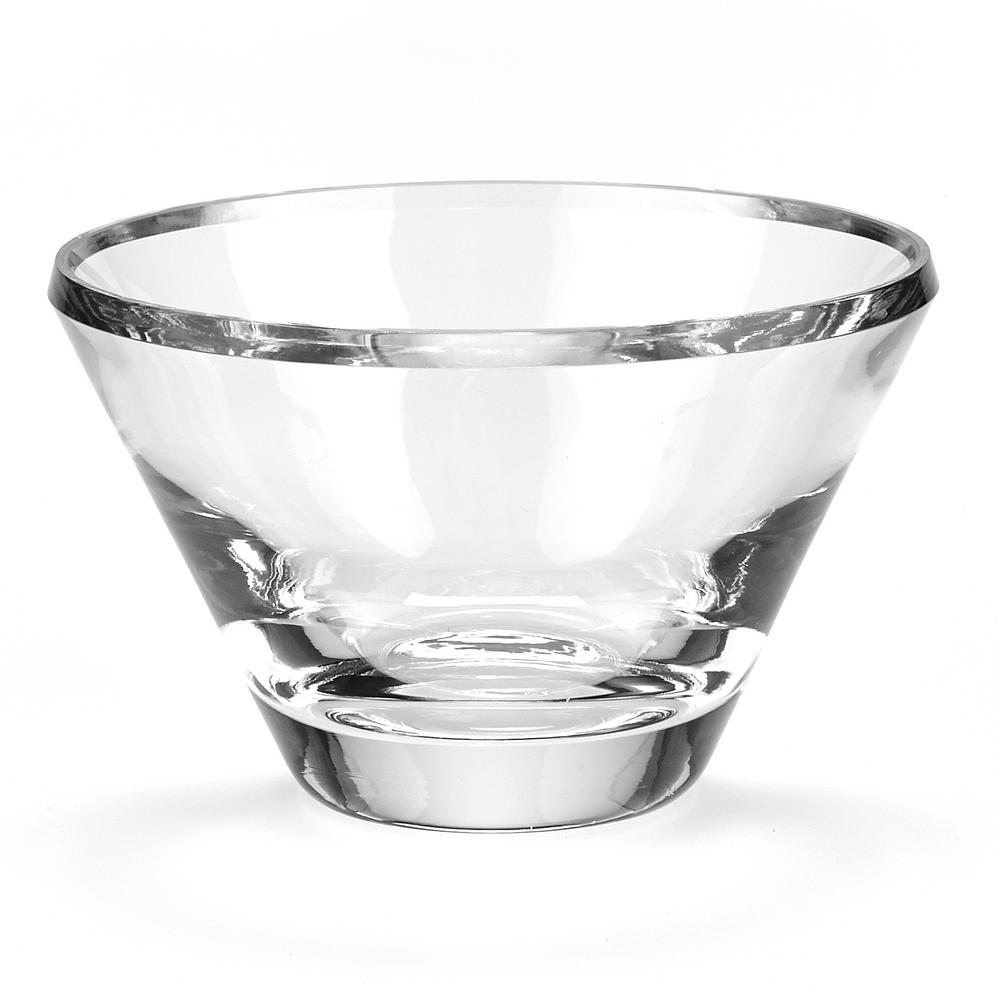 Decorative Glass Bowls Litton Lane Clear Glass Boat Shaped Decorative Bowl With Silver