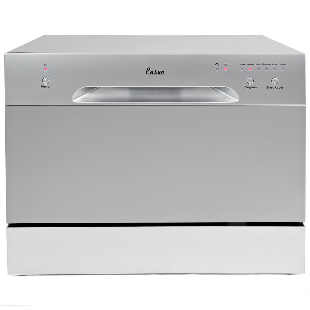 18 Portable Dishwasher Canada Ensue Portable Dishwasher In Silver With 6 Place Setting Capacity