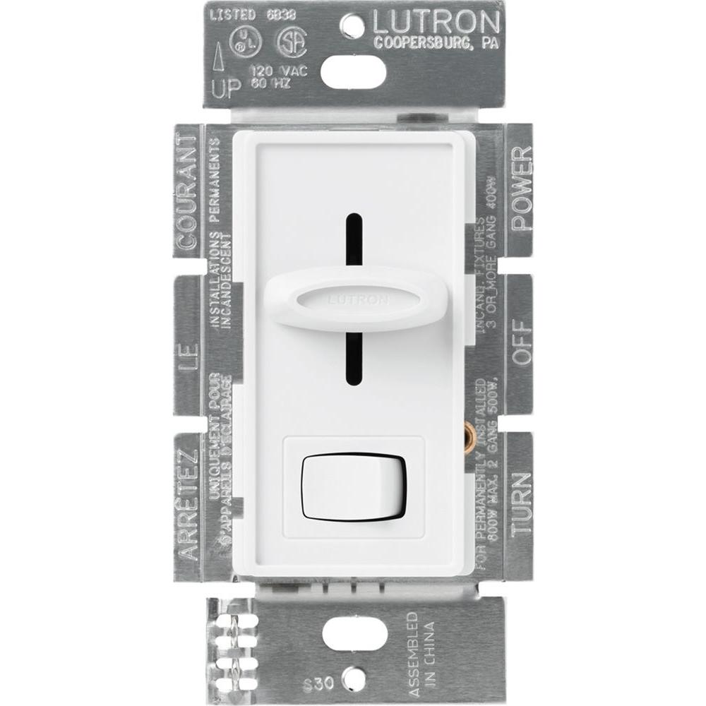 Dimmer Switch Lutron Skylark 600 Watt Single Pole Dimmer White