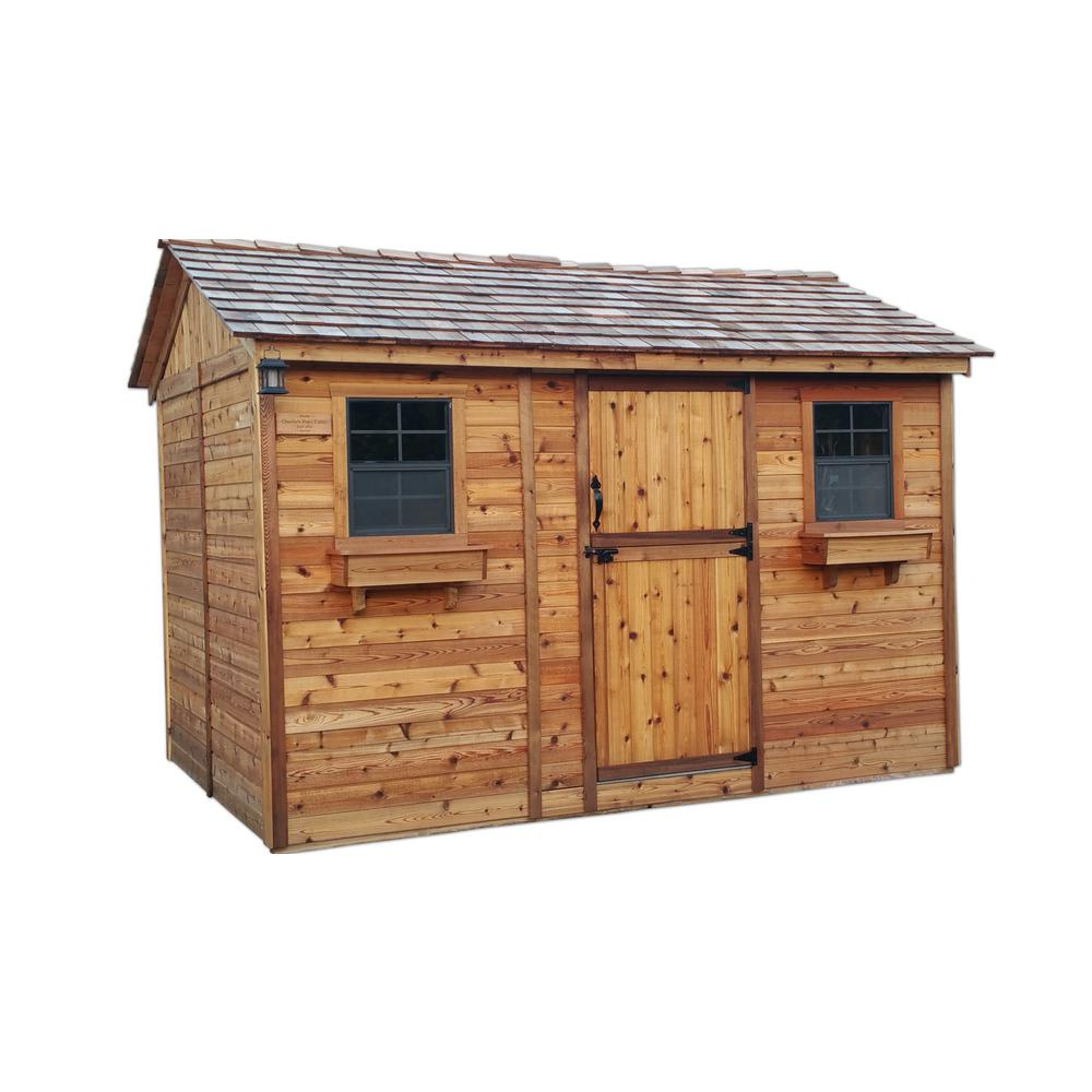 Home Depot Sheds For Sale Outdoor Living Today Cabana 8 Ft X 12 Ft Western Red Cedar Garden Shed