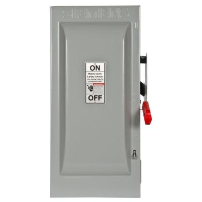 Siemens Heavy Duty 30 Amp 600-Volt 3-Pole Type 12 Non-Fusible Safety