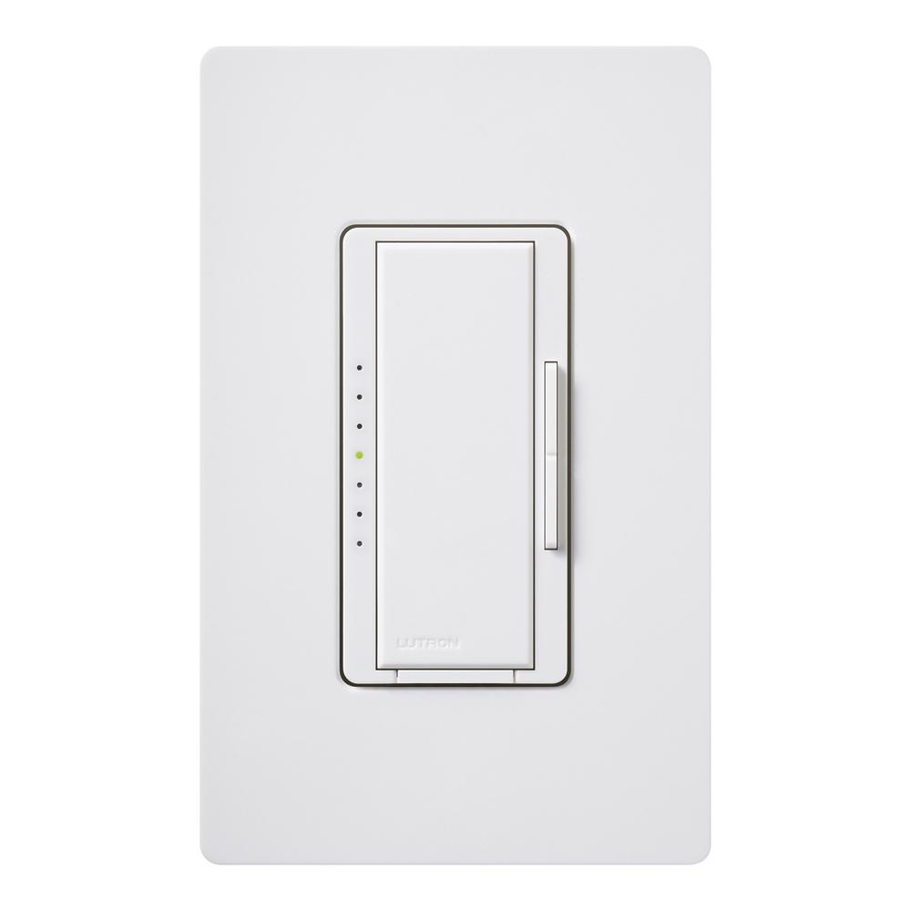 Dimmer Switch Lutron Maestro C L Dimmer Switch For Dimmable Led Halogen Incandescent Bulbs Single Pole Multi Location W Wallplate White