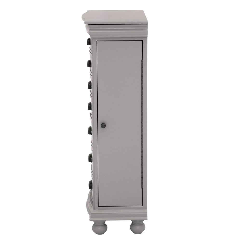 Dimension Armoire Home Decorators Collection Florence Flagstone Grey Jewelry Armoire