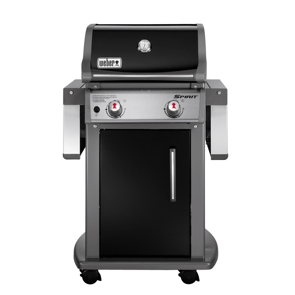Weber Grill Spirit E 310 Weber Spirit E 210 2 Burner Propane Gas Grill In Black With Built In Thermometer