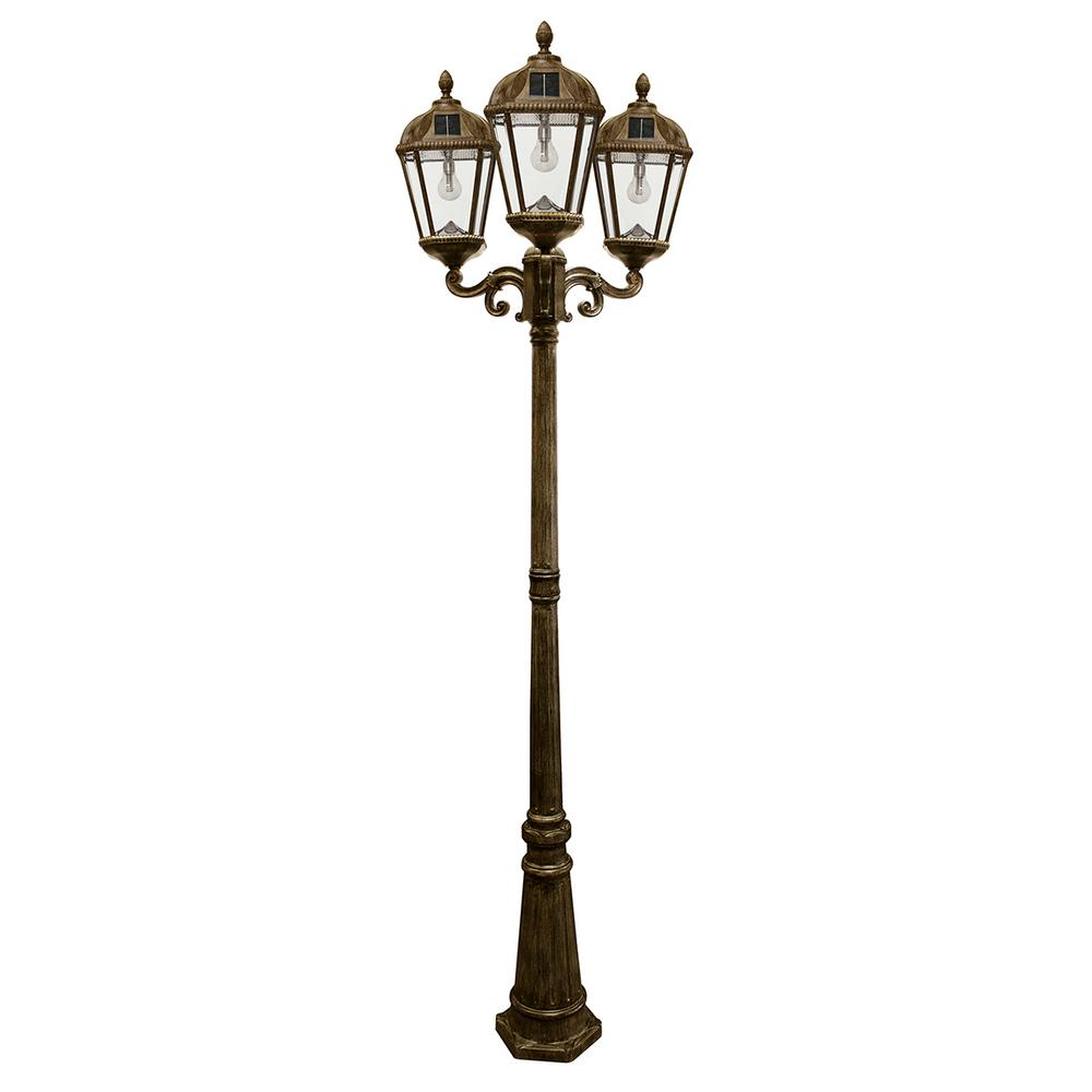 Solar Lamp Post Gama Sonic Royal Bulb Series 3 Head Weathered Bronze Integrated Led Outdoor Solar Lamp Post With The Gs Solar Led Light Bulb