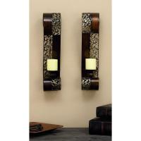 Pierced Leaf Wall Sconce Candle Holders (Set of 2)-34798 ...