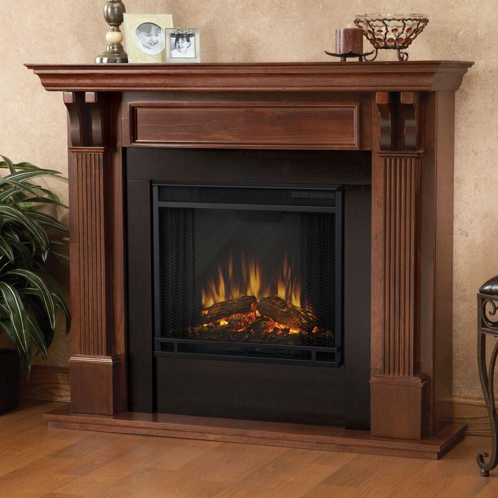 Electric Fireplace.com Real Flame Ashley 48 In Electric Fireplace In Mahogany