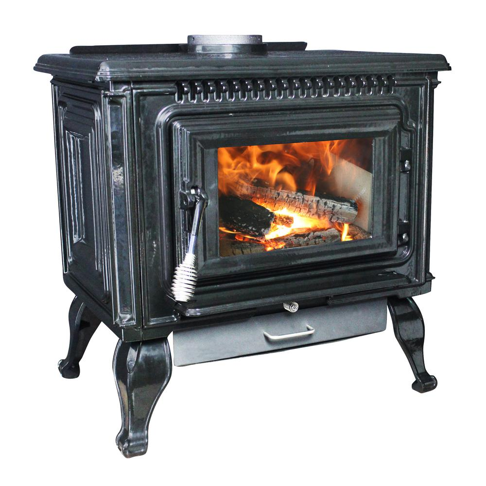Wood Burning Fireplace Heater Blower Ashley Hearth Products 2 000 Sq Ft Epa Certified Black Enameled Porcelain Cast Iron Wood Stove With Blower