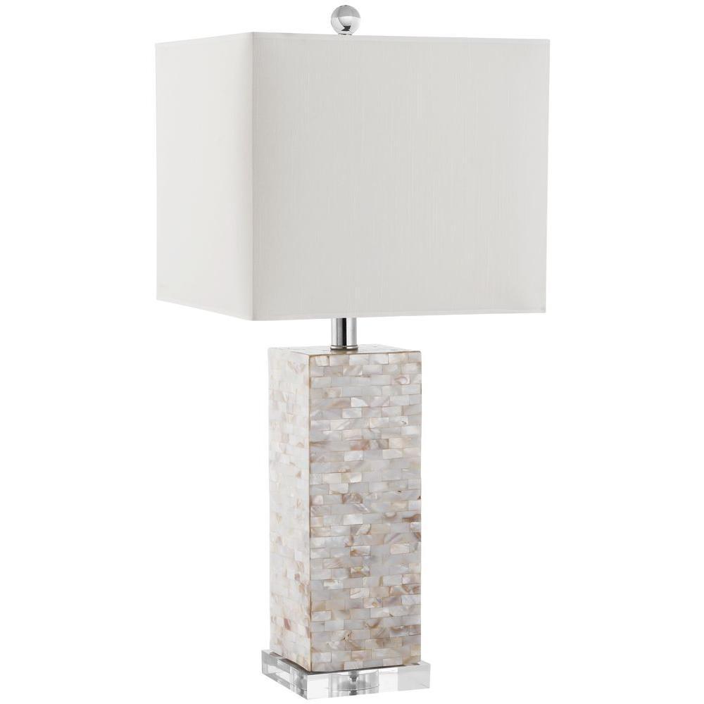 Tadpoles 20 in. White Diamond Chandelier Table Lamp