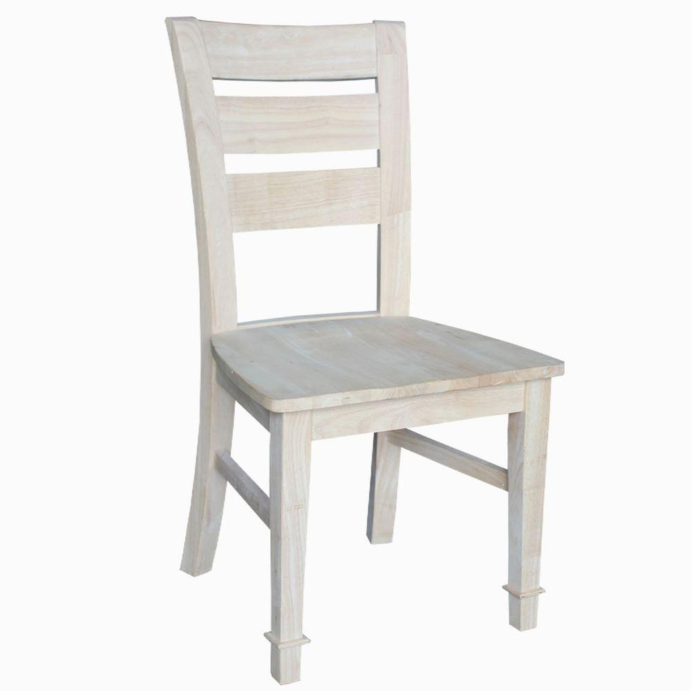 Chair Price International Concepts Tuscany Unfinished Wood Side Chair Set Of 2