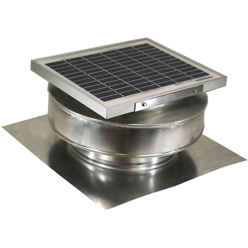 Exhaust Fan Roof Vent Active Ventilation 365 Cfm Mill Finish 5 Watt Solar Powered Roof Mounted Exhaust Attic Fan