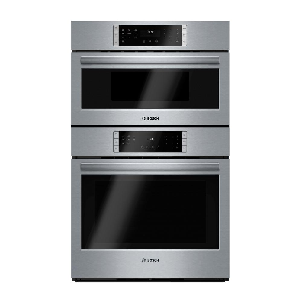Combination Microwave Oven Bosch 800 Series 30 In Combination Electric Wall Oven With European Convection And Speed Microwave In Stainless Steel