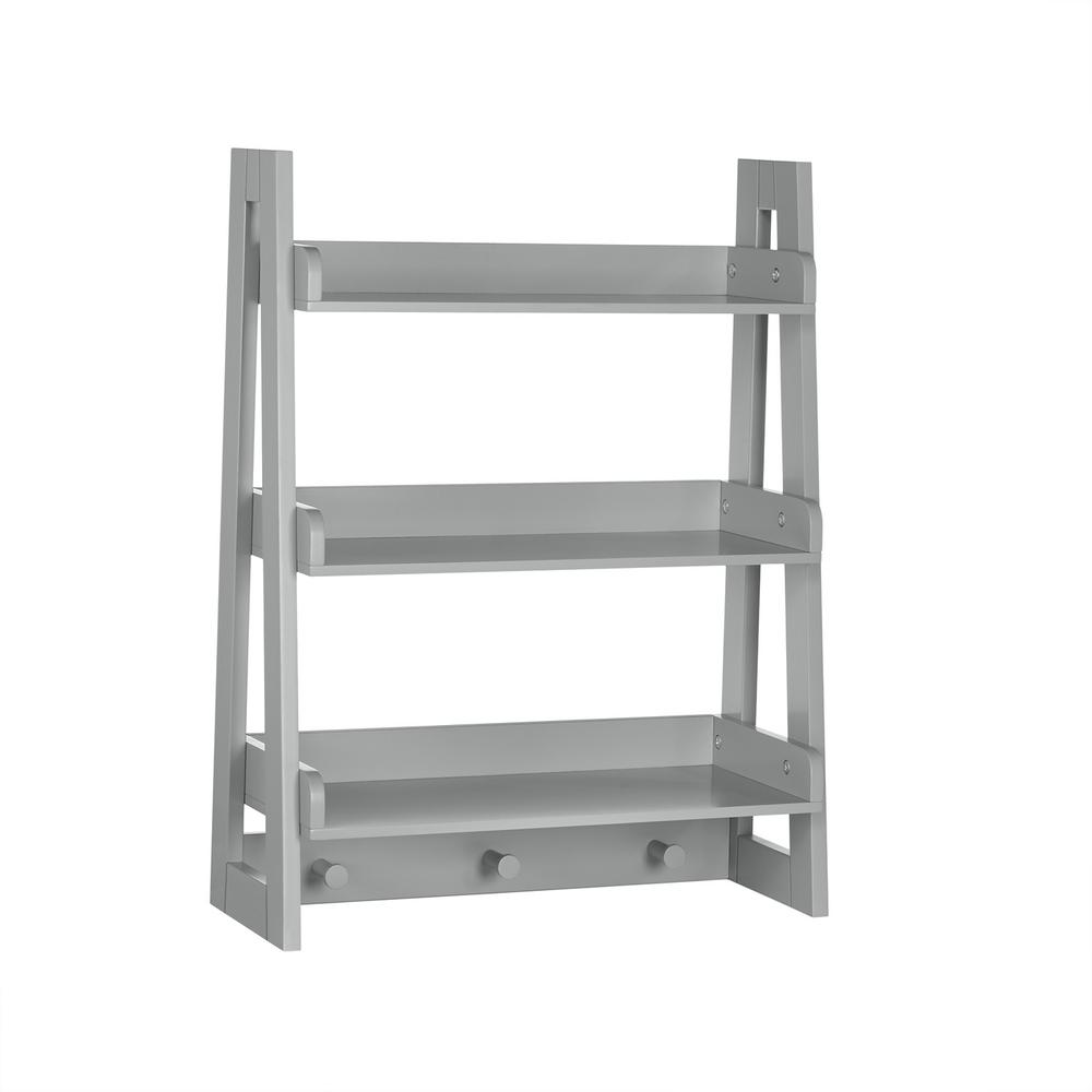Wall Ladder Shelf Riverridge Home Amery Collection 19 81 In W Wall Shelf With Hooks Gray