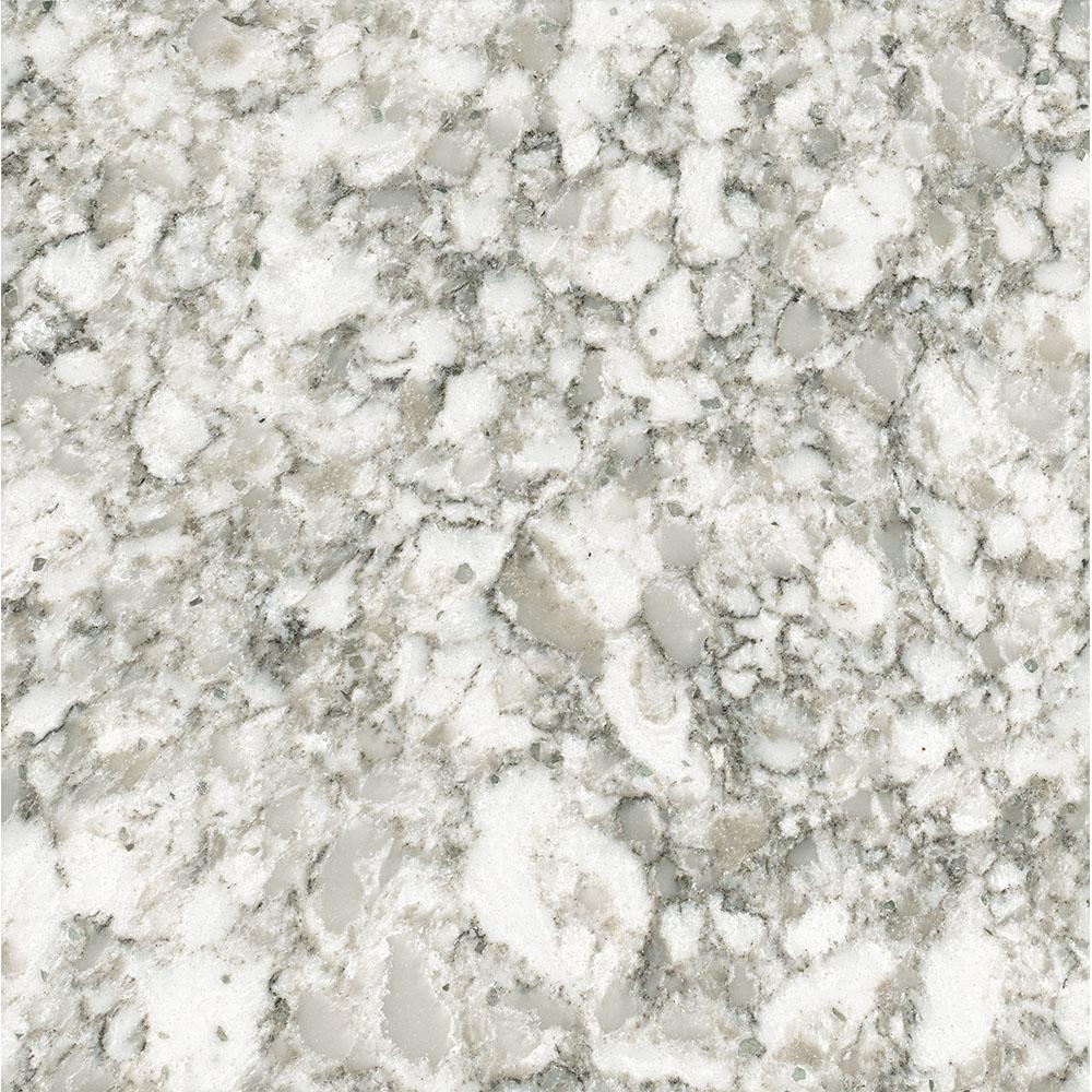 Cesar Countertop 3 In X 3 In Quartz Countertop Sample In Everest