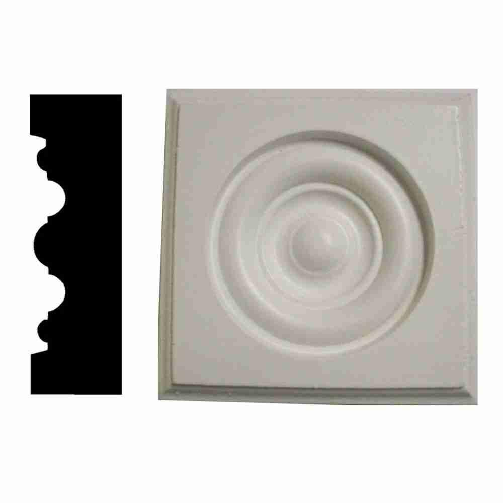 Home Depot Door Casing 1 In X 2 3 4 In X 2 3 4 In Pine Primed Rosette Corner Block Moulding