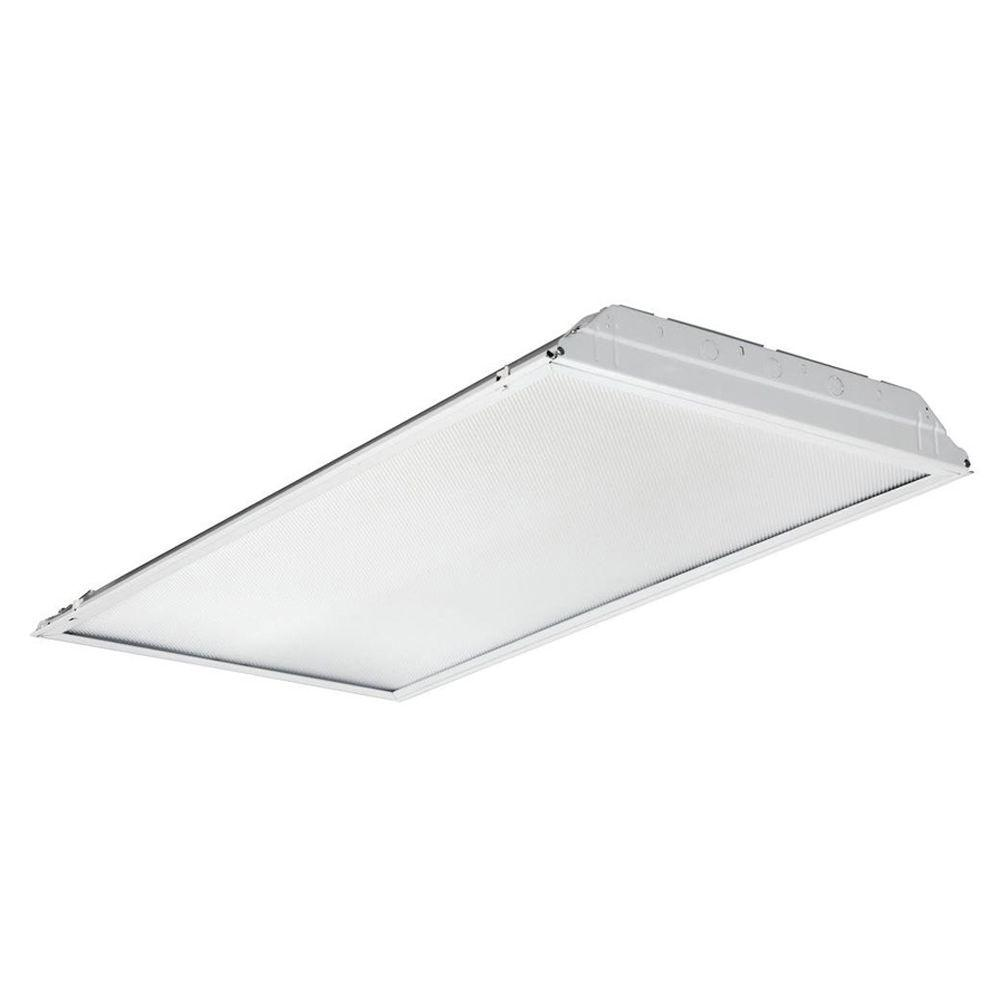 Led Lighting Prices Lithonia Lighting 2 Ft X 4 Ft White Integrated Led Lay In Troffer With Prismatic Lens