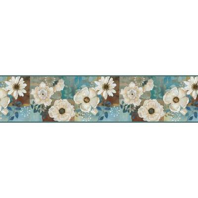 Chesapeake Septimus Gardenia Wallpaper Border-MEA79202B - The Home Depot