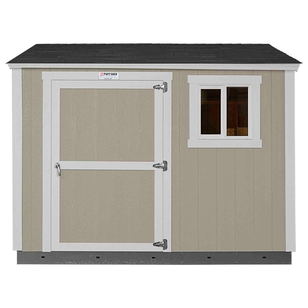 Home Depot Sheds For Sale Installed Tahoe Tall Ranch 8 Ft X 10 Ft X 8 Ft 6 In Painted Storage Building With Shingles And Sidewall Door