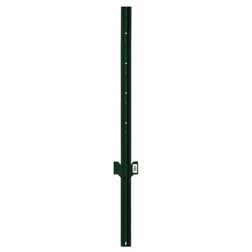 Post Pounder Rental Home Depot 2 1 4 In X 2 1 2 In X 4 Ft Green Steel Fence U Post
