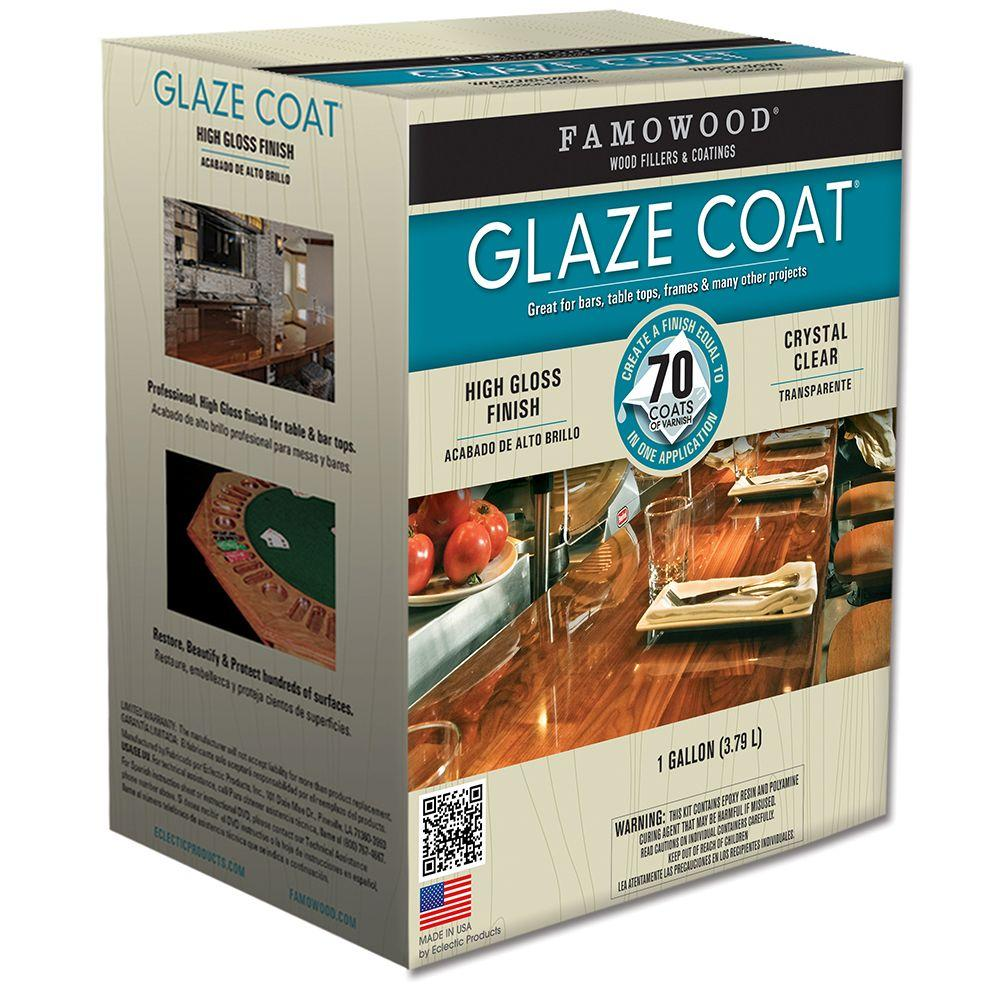 Famowood 1 Gal Glaze Coat Clear Epoxy Kit 2 Pack 5050110 The Home Depot
