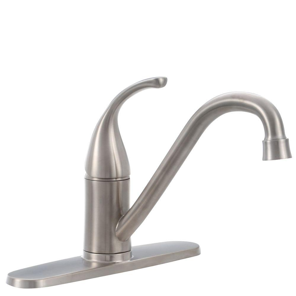 Cool Kitchen Faucet Glacier Bay Builders Single Handle Standard Kitchen Faucet In Stainless Steel