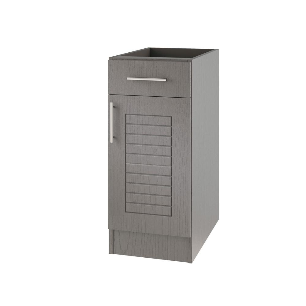 Open Cabinet Weatherstrong Assembled 15x34 5x24 In Key West Open Back Outdoor Kitchen Base Cabinet With 1 Door And 1 Drawer Right In Rustic Gray