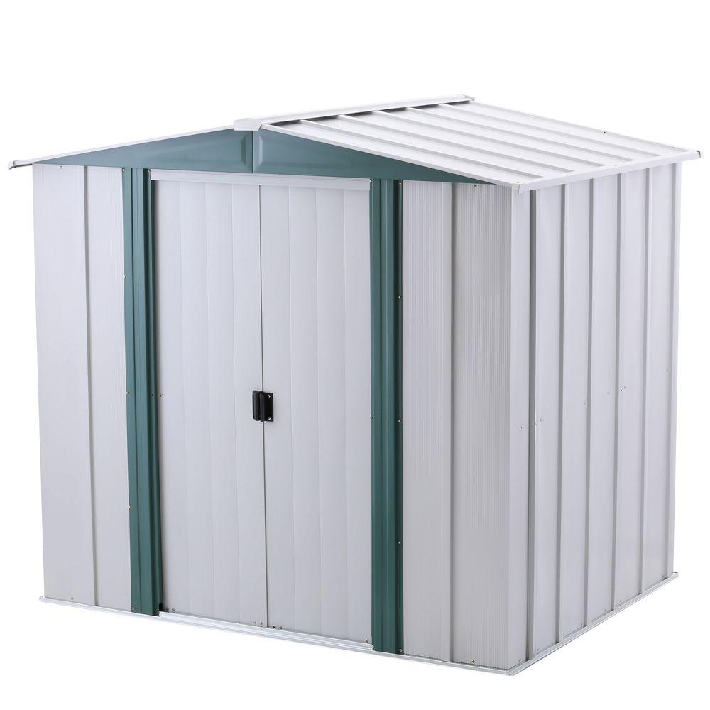 Steel Storage Sheds Arrow Hamlet 6 Ft X 5 Ft Steel Storage Shed With Floor Kit