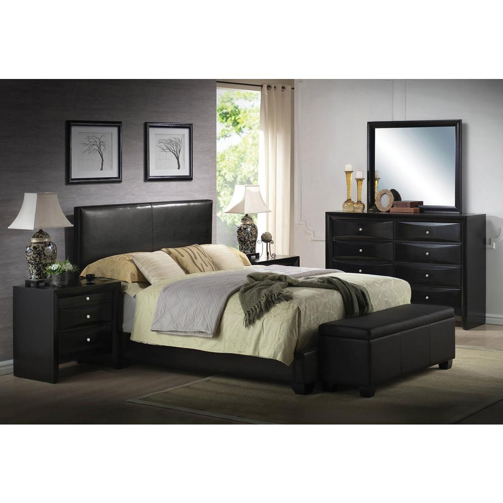 Black Bedroom Suite Acme Furniture Ireland Black Full Upholstered Bed 14440f The