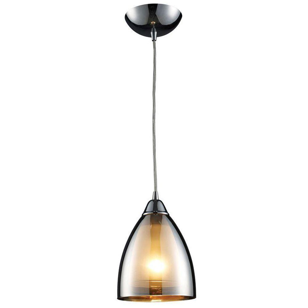 Ceiling Pendant Lights Titan Lighting Reflections 1 Light Polished Chrome Ceiling Pendant