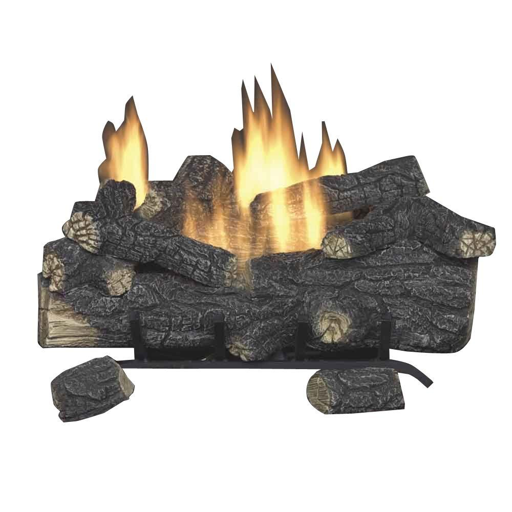 Fireplace Propane Heater Emberglow Savannah Oak 18 In Vent Free Propane Gas Fireplace Logs With Remote