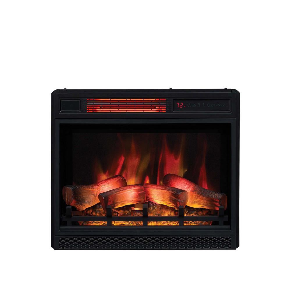 Plug In Electric Fireplaces Classic Flame 23 In Ventless Infrared Electric Fireplace Insert With Safer Plug