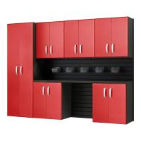 Flow Wall Modular Wall Mounted Garage Cabinet Storage Set ...