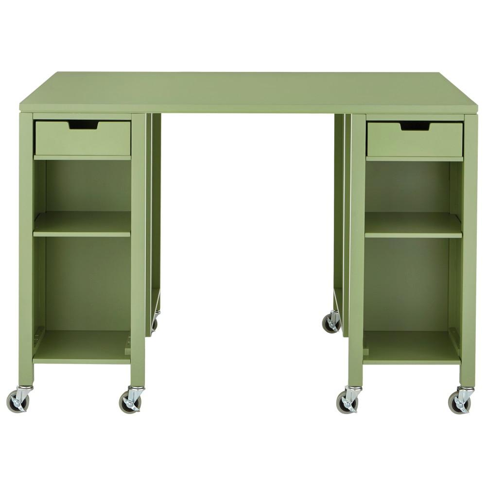 Storage Table On Wheels Details About Martha Stewart Living Craft Space Storage Table Arts Caster Wheels Rhododendron