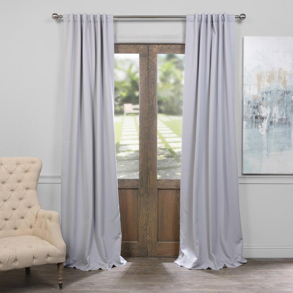 108 Inch Curtain Panels Exclusive Fabrics Furnishings Semi Opaque Fog Grey Blackout Curtain 50 In W X 108 In L Panel