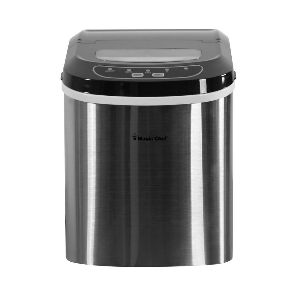 Countertop Glass Washer Magic Chef 27 Lb Portable Countertop Ice Maker In Stainless Steel