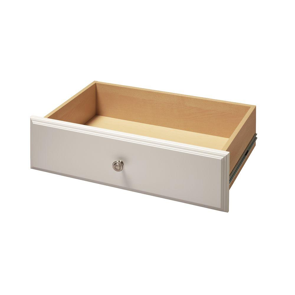 Living24 Möbel Martha Stewart Living 24 In X 8 In Classic White Deluxe Wood Drawer Kit