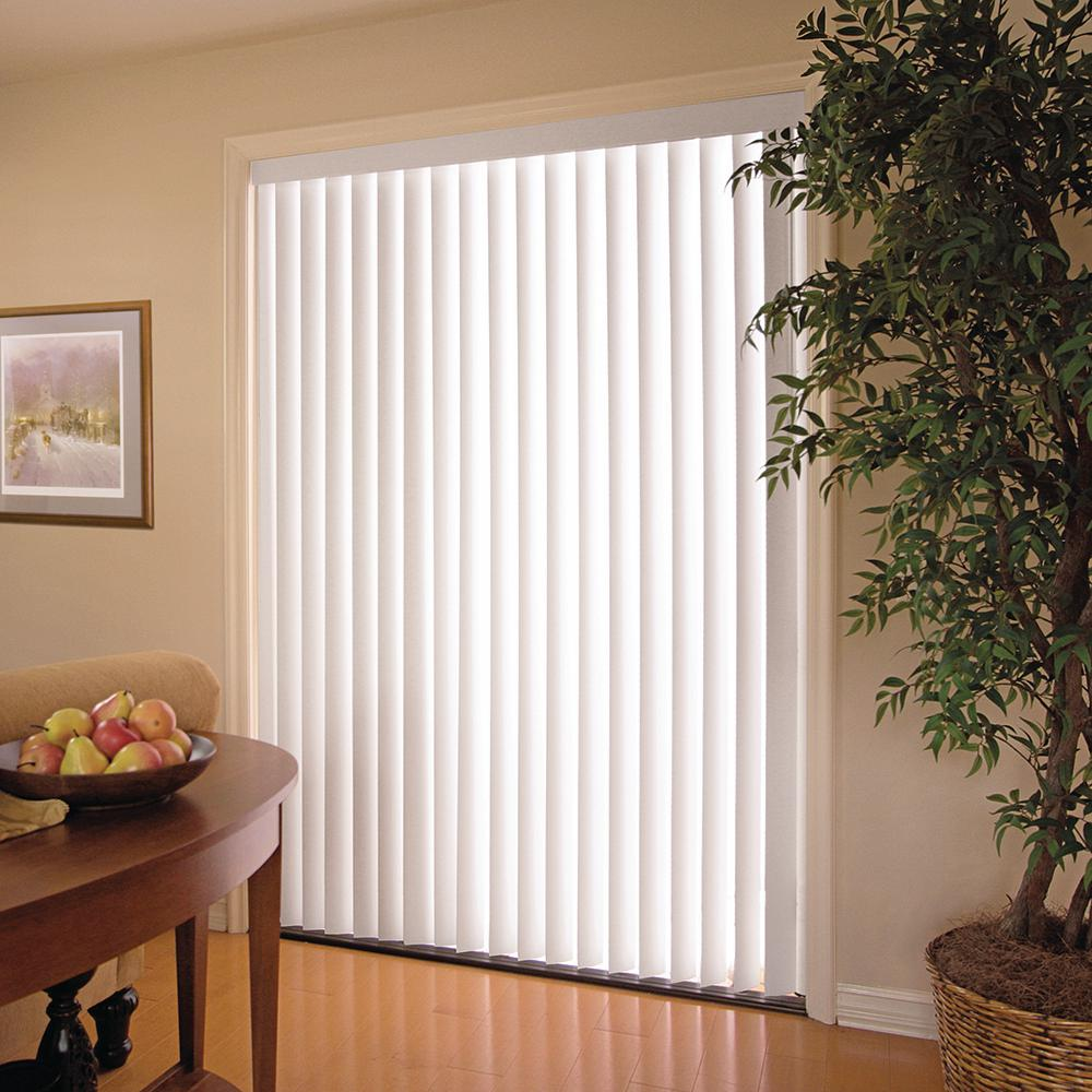 Plastic Door Curtains For Air Conditioner White 3 5 In Pvc Vertical Blind 78 In W X 84 In L