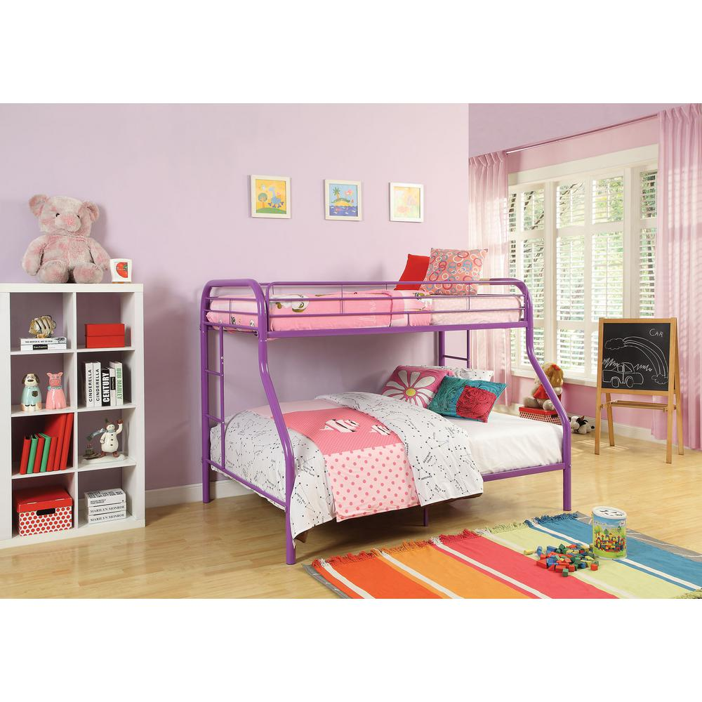 Kids Furniture Acme Furniture Tritan Twin Over Full Metal Kids Bunk Bed