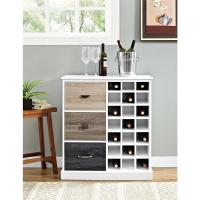 Altra Furniture Mercer White 21-Bottle Wine Cabinet ...