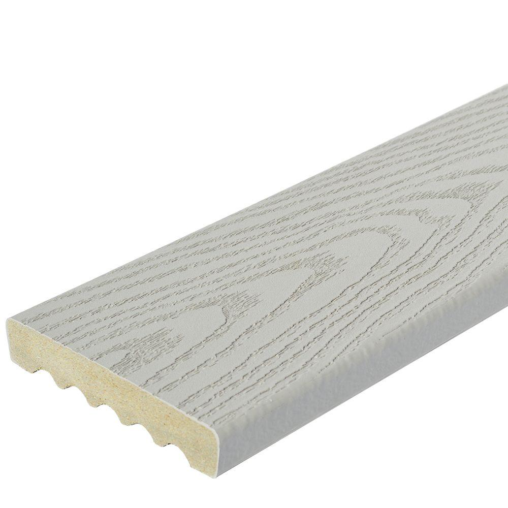Synthetic Deck Boards Veranda 1 In X 5 1 4 In X 16 Ft Gray Square Edge Capped Composite Decking Board 56 Pack