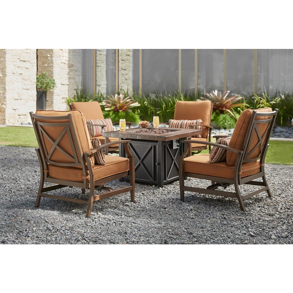 Home Depot Fire Pit Home Decorators Collection North Lake 5 Piece Patio Fire Pit Conversation Set With Sunbrella Spectrum Sierra Cushions